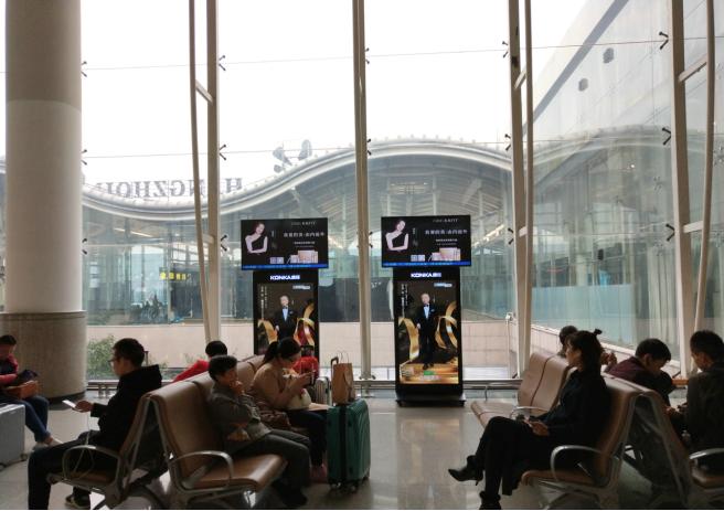 成都双流国际机场灯箱数码LED电子广告牌
